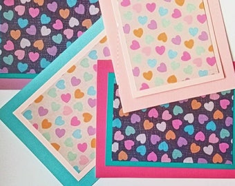 Blank 'Confetti Hearts' Custom Anytime Card (You Pick The Color)