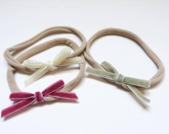 Mini Velvet Ribbon Headband