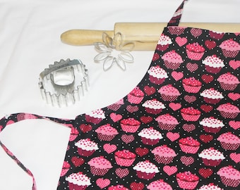 Cupcakes and Hearts Child Apron