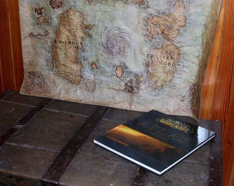 Wow map world of warcraft map lands of kalimdor eastern mto big azeroth map world of warcraft map choose expansion fantasy map wow handdrawn dyed sewn gumiabroncs Choice Image