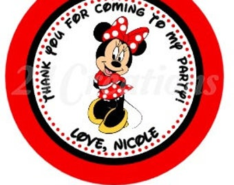 Minnie Mouse Personalized Stickers