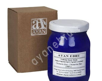 Ebru Marbling Paint Colors-Pigment Ultramarine Blue (Ayan)