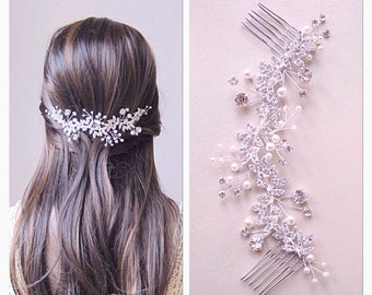 Bridal hair comb, Wedding Hair Vine, bridal hair vine,wedding hair piece, bridal hair piece,bridal hair accessory, crystal hair vine
