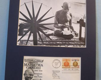 Champion of Liberty Mahatma Ghandi and First Day Cover of his own stamp