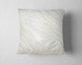 Cream Stone Texture throw pillow