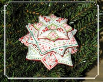 Xmas Tree of Stars - blackwork - embroidery pattern