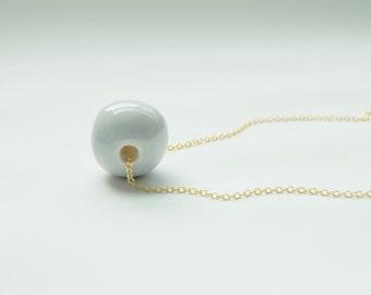 Ceramic Bead Necklace - Ceramic Jewelry