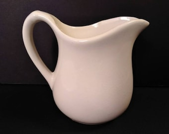 Vintage Ceramic White Creamer Pitcher