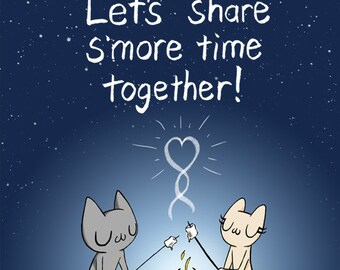 Let's Share S'more Time Together!  A2 size greeting card
