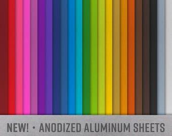 "Anodized Aluminum Sheet, 24 Gauge, 6"" x 6"""