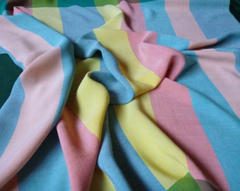 Beautiful Colorful tablecloth with Stripes Spring table cloth Pastel Colors