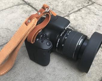 Leather Camera Strap, Wrist Strap, Deerskin Camera Strap, DSLR Camera Strap, Personalized, Camera Strap, Canon, Leica, Nikon, Monogram
