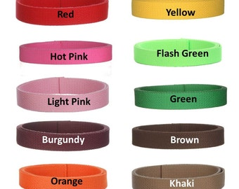 4 yards Cotton Webbing  1 inch You Pick Colors Key Fobs Belts Purse Bag Straps Leash