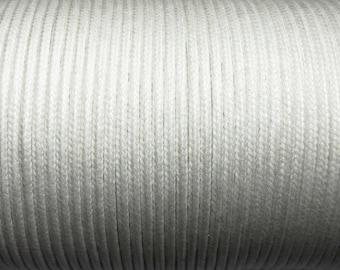 100 m cotton cord 1mm white CH080