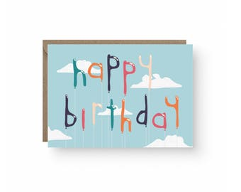 Happy Birthday Balloon Card
