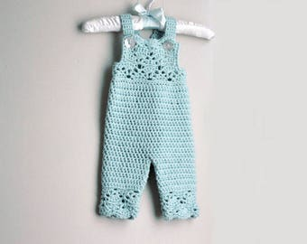 Crochet Overalls Pattern, Crochet Pattern, Baby Overalls Pattern, Crochet Baby Girl Pattern, Crochet Baby Clothes
