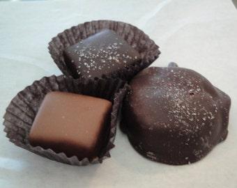 Caramels Belgian Chocolate Dipped 1/2 lb