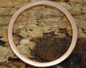 Solid Flat Copper Bangle - Jewllery for her - Stacking bangle - Solid Bangle - Bangle - Flat Bangle - Jewellery -   (LOLB1)