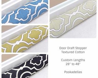 """Door Draft Stopper - 28"""" to 48"""" - Door Snake - Door Draft Blocker - Window Draft Stopper - Draft Stopper - Beige, Blue, Black, Green"""
