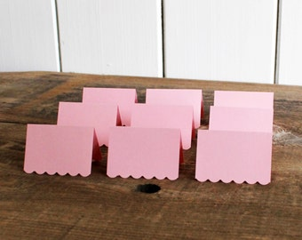 pink place cards for wedding, shower, party set of 100 - delaney