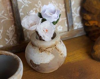 Miniature ceramic flower vase