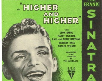 A Lovely Way To Spend An Evening. Frank Sinatra,  Sheet Music Download, Vintage Sheet Music