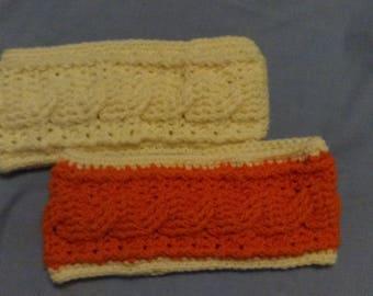 Hand Crocheted Cable Ear Warmer