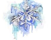 Snowflake Painting - Prin...