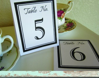 Instant Download Tented Table Numbers - Bold Farmhouse