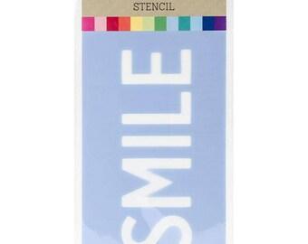 Hampton Art Stencil - Smile