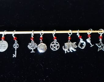 "I want to do bad things with you""  True Blood inspired stitch Marker set"