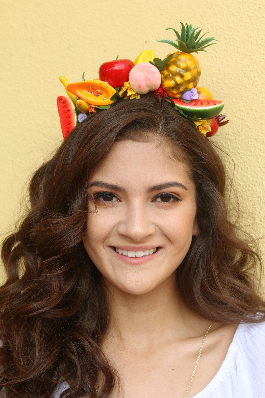 Fruits flower crown headband fruit mexico summer pineapple zoom izmirmasajfo