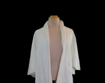 Vintage Wrap - White Synthetic Faux Fur Wrap - Fur Stole - 1950s Vintage