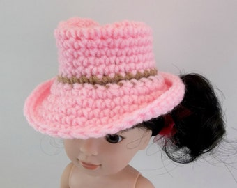 Western Cowboy Hat for 14.5 inch Doll MADE to ORDER Crochet Toys Accessories