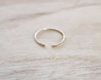 Skinny open edge ring, open edge ring, skinny ring, dainty ring, stacking ring, stacker ring, adjustable ring, gold ring, dainty gold ring
