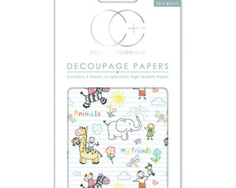 Paper patch (3 sheets) children patterns - CCDECP0161