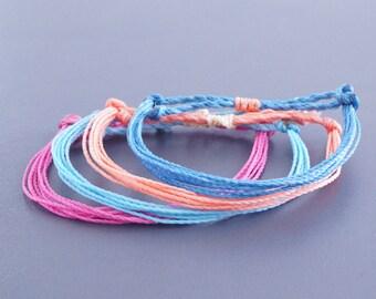 4x Surfer Bracelet  - Beach Bracelet, Jewellery, Wristband, Wristlet, sailor