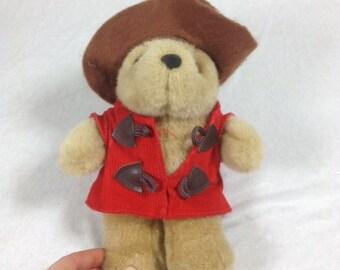 Vintage Paddington Bear Stuffed Bear Plush Paddington Bear 1996