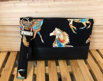 Small Zip Pouch - Out West Horses