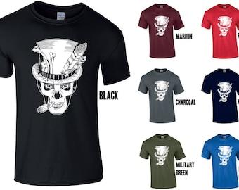 VOODOO Baron Samedi T-Shirt Top  Halloween