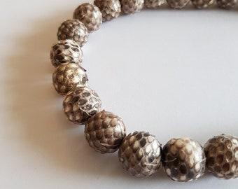 wire bead 15mm snakeskin
