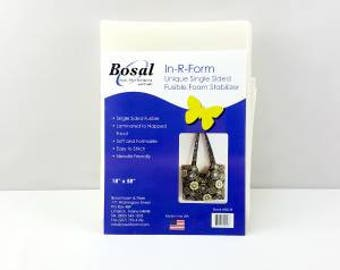 Bosal Single Sided in R-Form Plus Fusible Foam Stabilizer, Bosal Foam Stabiliser, Bag Making, Bag Making Stabiliser