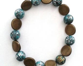 Muted Blue and Brownish Bracelet