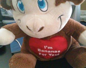 """Funky Monkey Plush Toy 10"""" Kellytoy BNw/oT Banana Love"""
