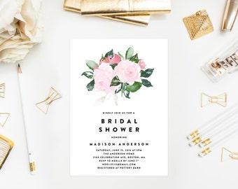 Chic Romance Bridal Shower Invitation