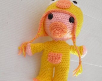 Plush baby duck deguise