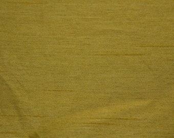 Faux Silk Yellow-Green Fabric