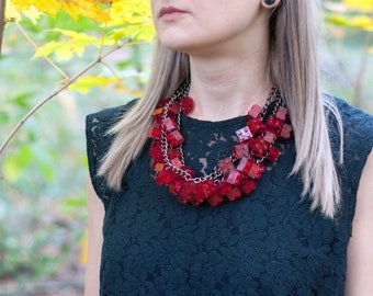 Red Transparent necklace