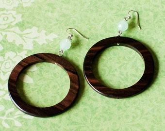 Wood Hoop Earrings/ circle jewelry/ eco friendly jewelry/ nature inspired/ nature wedding/ statement jewelry/ beach style/ joanna gaines