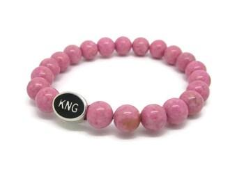 Kingston, KNG, Kingston Jewelry, Kingston Bracelet, Kingston Gifts, Pink Riverstone